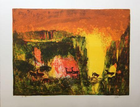 Lithograph Lebadang - Grotte aux biches