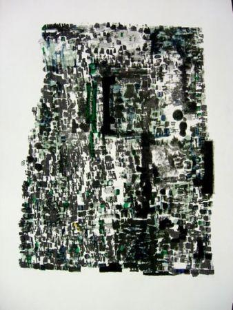 Lithograph Vieira Da Silva - GROTTES