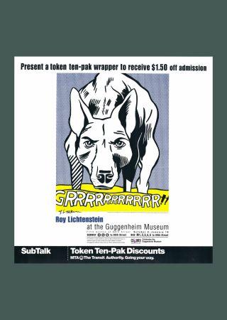 Lithograph Lichtenstein - 'Grrrrrrrrrrr!!' Hand Signed Exhibition Poster