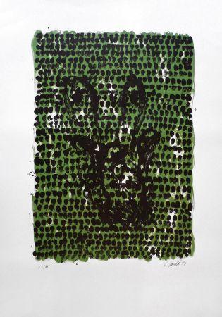 Lithograph Baselitz - GRUNES TUCH