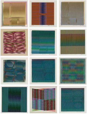 Screenprint Cruz-Diez - Grupo de 15 Serigrafías sobre papel