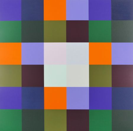 Screenprint Lohse - Gruppe von 8 Quadraten mit vier Rechtecken