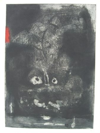 Etching And Aquatint Clavé - GUERRIER
