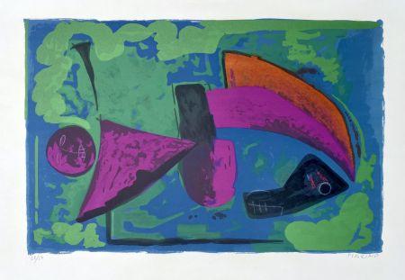 Lithograph Marini - Guerriero, 1968