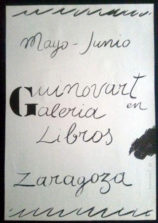 Poster Guinovart - Guinovart en la Galeria libros - Zaragoza - 1972
