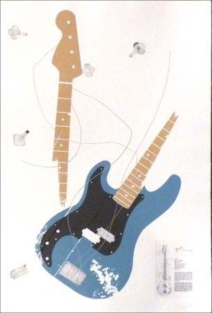 Engraving Herrou -  Guitare bleue