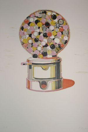 Linocut Thiebaud - Gumball Machine