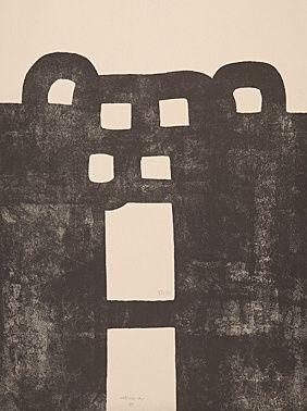 Lithograph Chillida - Gurutze Gorria I