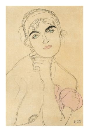 Lithograph Klimt - Gustav Klimt - Nude Girl
