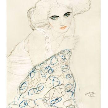 Lithograph Klimt - Gustav Klimt - Portrait of a Woman