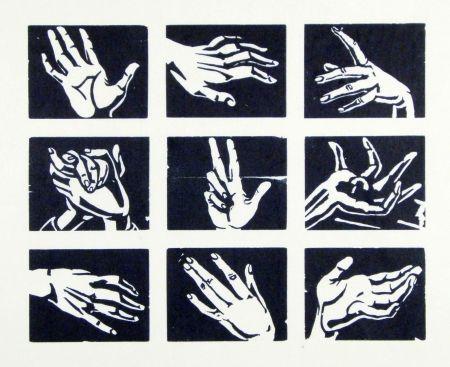 Woodcut Scheele - Hände (Hands)