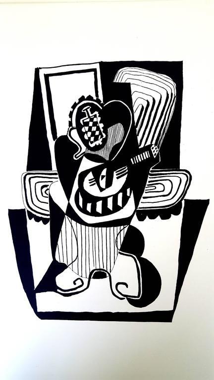 Lithograph Picasso (After) - Hélène chez Archimède