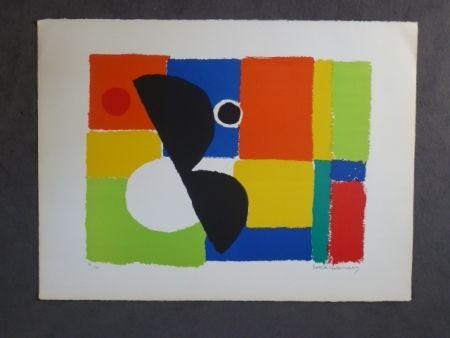 Lithograph Delaunay - Hélice noire