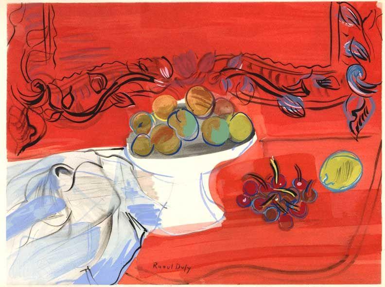 Illustrated Book Dufy - Héron de Villefosse : EAUX DE VIE (12 pochoirs de Raoul Dufy) 1952