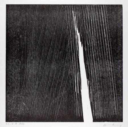 Woodcut Hartung - H-18-1973