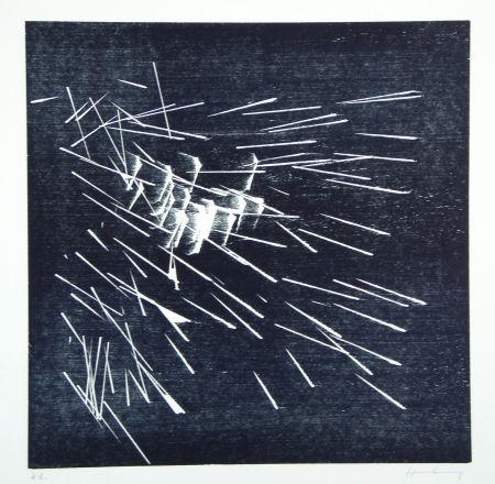 Woodcut Hartung - H-22-1973