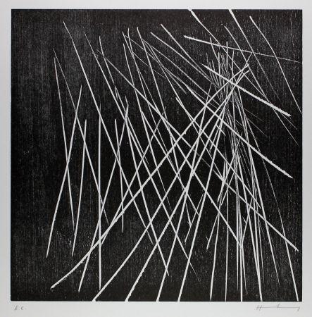 Woodcut Hartung - H-8-1973