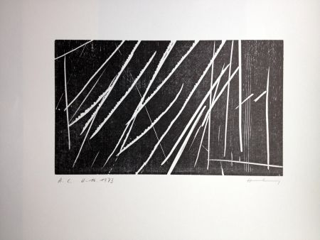 Woodcut Hartung - H 16
