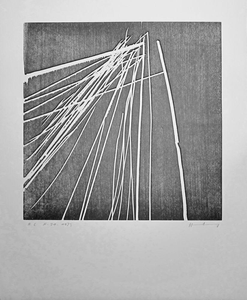 Woodcut Hartung - H 1973-21