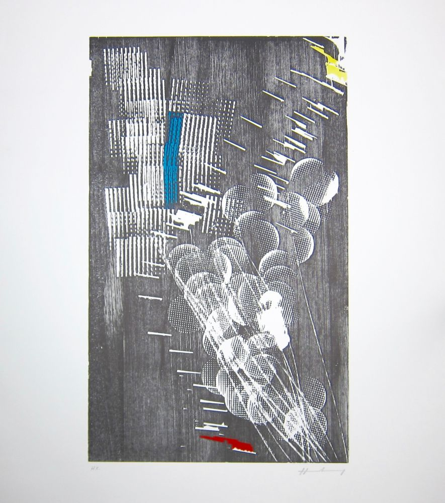 Woodcut Hartung - H 1973-3