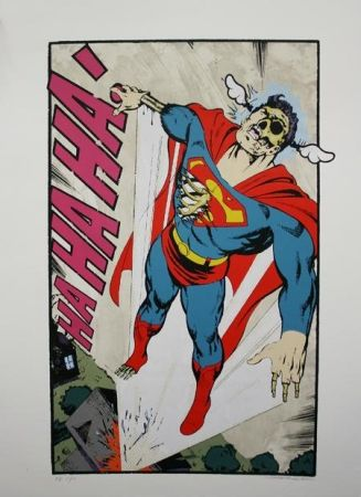 Screenprint D-Face - Ha, Ha, Ha Not So Superman
