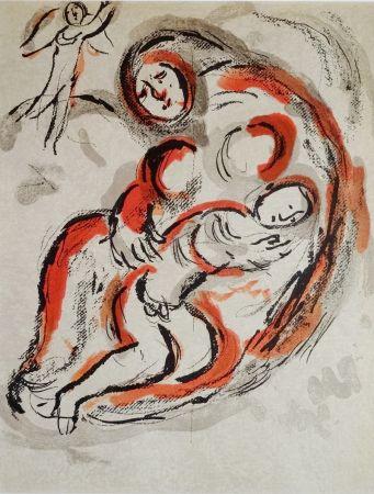 Lithograph Chagall - Hagar Dans Le Désert