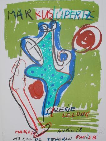 Lithograph Lüpertz - (hand signed exhibition poster)