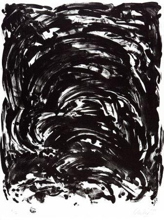 Lithograph Uecker - Handlung II