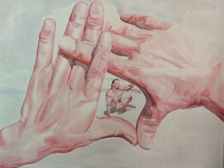 Lithograph Minjun - Hands