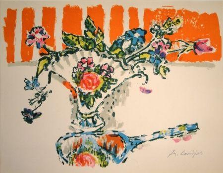 Lithograph Carigiet - (Handspiegel vor Blumenvase