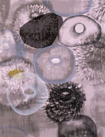 Screenprint Bleckner - Happiness For Instance I