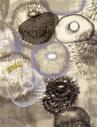 Screenprint Bleckner - Happiness For Instance III