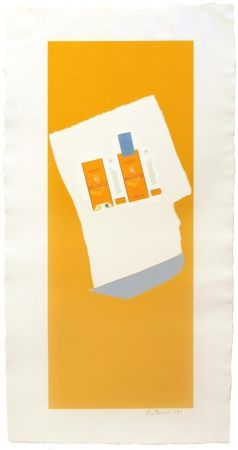 Lithograph Motherwell - Harvest with Blue Bottom, from Summer Light series