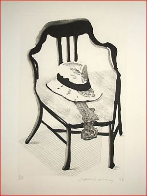 Etching And Aquatint Hockney - Hat on Chair