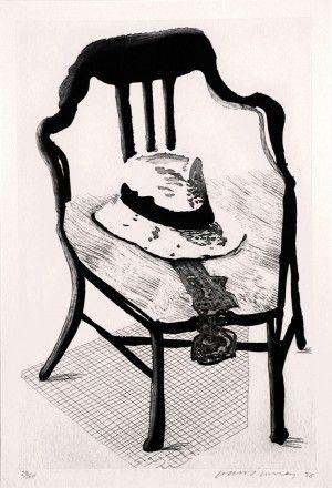 Etching And Aquatint Hockney - Hat On Chair, From Geldzahler Portfolio
