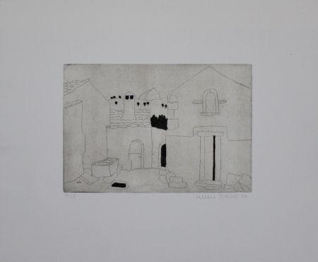 Etching Breiter - Hausfassade