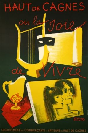 Poster Colin - Haut de Cagnes  ou la Joie de Vivre
