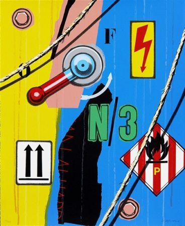 Screenprint Klasen - Haute tension flèches N/3