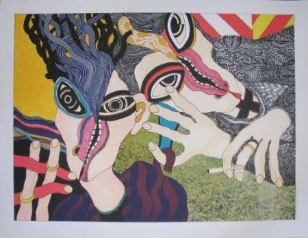 Lithograph Tola - Hay mujer, un animal callado que tú aún no conoces