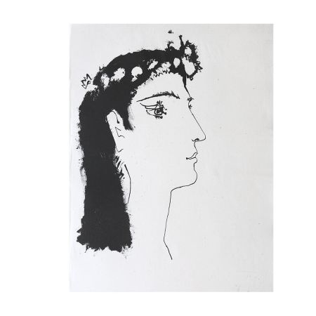 Etching Picasso - Head of a Woman Crowned with Flowers
