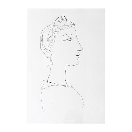 Etching Picasso - Head of a Woman in Profile