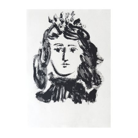 Etching Picasso - Head of a Woman Wearing a Crown
