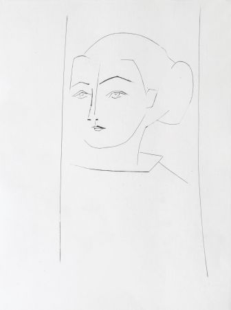 Etching Picasso - Head of a Woman Wearing her hair in a Chignon