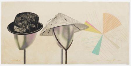 Lithograph Rosenquist - Head Stand