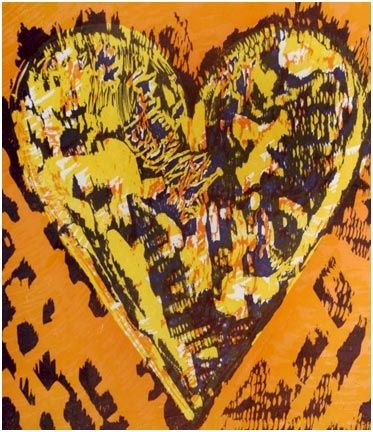 Woodcut Dine - Heart for Film Forum (1993)
