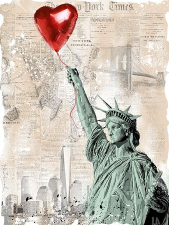 Screenprint Mr Brainwash - Heart & Soul