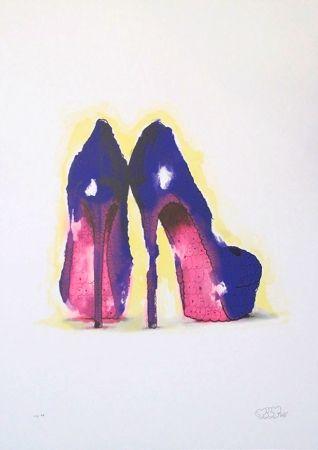 Screenprint Tilt - Heels (Purple)