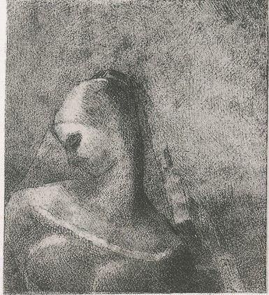 Lithograph Redon - Helene (Ennoia)