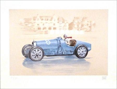 Lithograph Lavictoire - Helle Nice - Bugatti