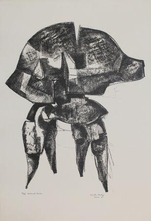 Lithograph Hadzi - Helmet Series